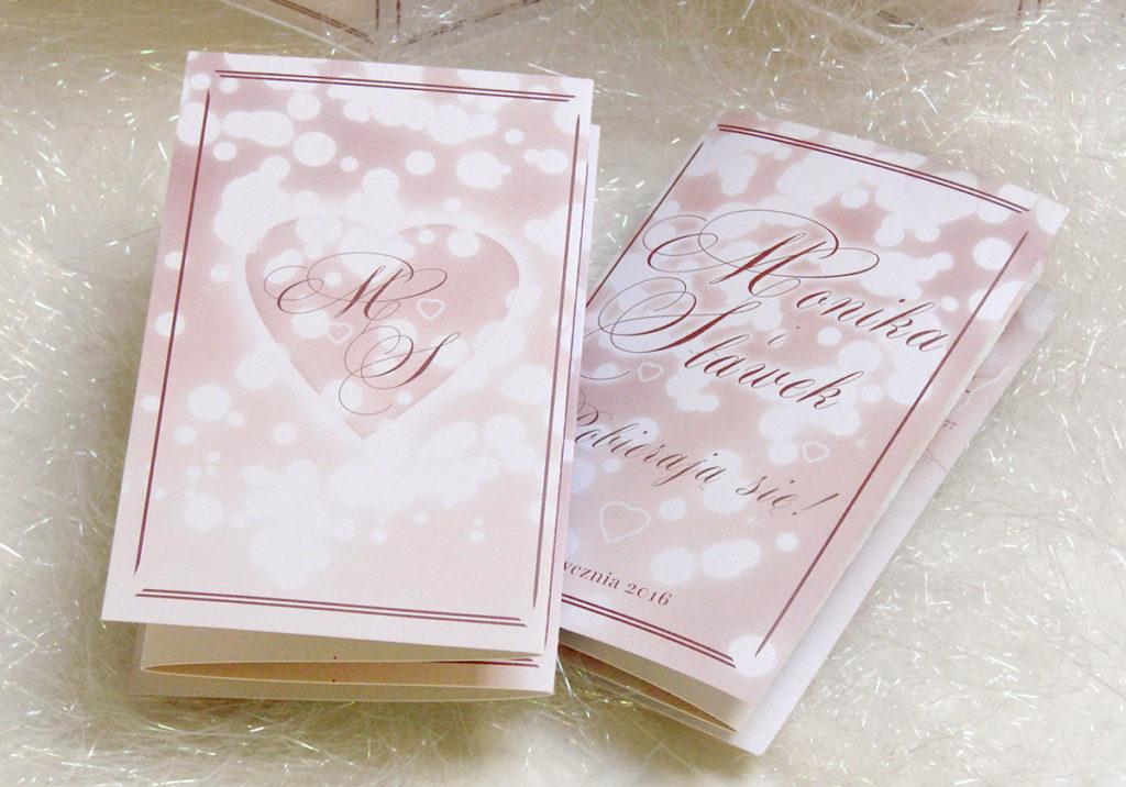 Wedding invitation rose quartz